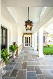front porch flooring ideas stamped concrete with rocking chairs and bench floor color