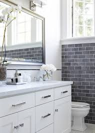 White bathroom tiles Rustic Elle Decor 16 Beautiful Bathrooms With Subway Tile