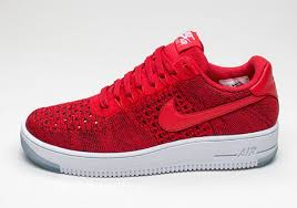 nike air force 1 low flyknit university red sneakernewscom air force 1 flyknit