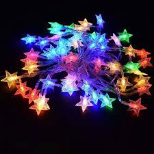 Rgb Outdoor Christmas Lights Dodolightness 33feet 10m Stars String Light Indoor Outdoor Led String Lights For Gardens Bedroom Home Wedding Christmas Party Usb Powered Warm
