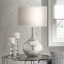 Table Lights For Bedroom Possini Euro Design Swift Modern Mercury Glass Table Lamp