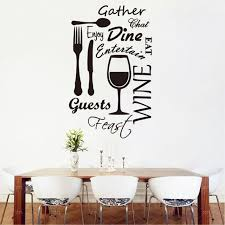 b43 kitchen word vinyl wall art stickers dining food wine quotes wall decals restaurant decoration mural on wall art pictures of food with b43 kitchen word vinyl wall art stickers dining food wine quotes