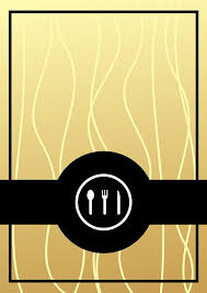 Gold Elegant Western Style Restaurant Menu Background