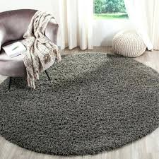 collection dark grey round area rug 6 feet 7 for gray youati ivory