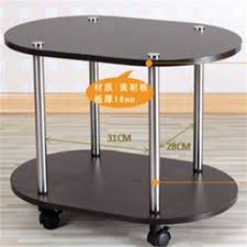 modern wood bedside table sofa side coffee mobile oval tea cart with wheels in tables from coffee table