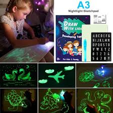 Womdee Drawing Kit With Light Fun And Developing Magic