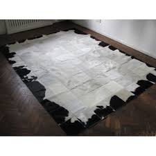 t 8121 natural cowhide patchwork rug