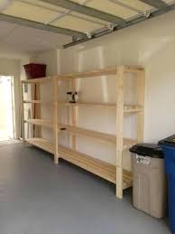 diy garage shelves easiest garage shelving unit free plans diy garage storage loft plans