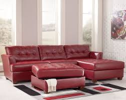 surprising ashley red leather sofa furniture sofas stores 689x550