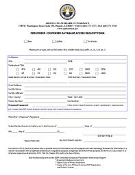 Access Order Form Template Prescriberdispenser Database Access Request Form Fill Out