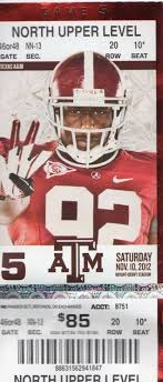 best texas a m images colleges midland texas  2012 game ticket from alabama crimson tide vs texas a m aggies game in tuscaloosa on
