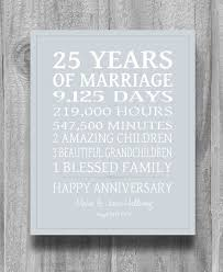 silver 25th anniversary gift personalized our life story stats marriage subway sign print unique gift custom colors on etsy 23 00
