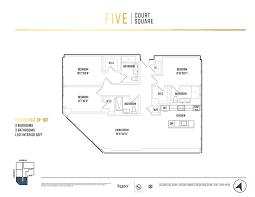 Queens peak condo floor plan 5 bedroom penthouse type ph1. 5 Court Square 10f Queens Ny 11101 Queens Condos Long Island City 3 Bedroom Condo For Sale