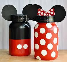 diy minnie and mickey coin jars