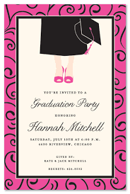 Contemporary Graduation Girl Invitations Myexpression 19715