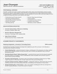 Marketing Job Resume Resume For Marketing Job Pdf Format Business Document 20