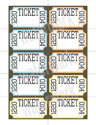 card raffle card template raffle card template