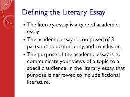 writing the literary essay ppt video online  defining the literary essay