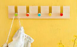 colorful coat hooks. Dowel Coat Rack Colorful Hooks