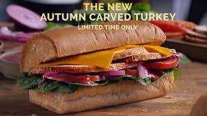 subway unveils new autumn carved turkey sandwich with cranberry mustard sauce