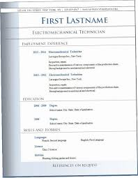 Blank Resume Templates For Microsoft Word Adorable Blank Resume Templates For Microsoft Word 28KDZ Blank Resume Template