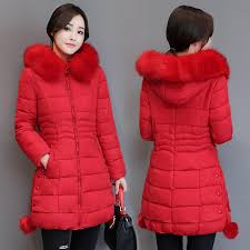 winter new products coat cotton padded clothes women mid length korean style slim fit