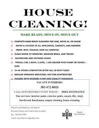 Housekeeping Flyers Templates Housekeeping Flyer Template By Cleaningflyer Threeroses Us