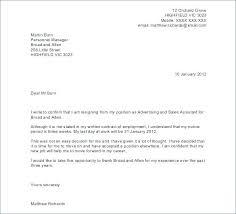 Letter Of Resignation Sample A Resignation Form Format Example Tender Letter Template