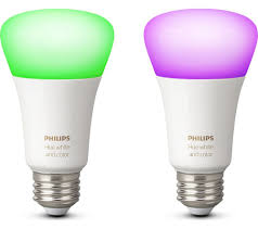 Buy Philips Hue White Colour Ambience Wireless Bulb E27 Twin