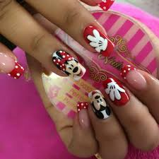 Wow these nails are too cute! Minnie mouse nail art idea #nails #nailart | Mickey  nails, Minnie mouse nails, Disney nails