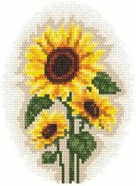 Free Printable Sunflower Cross Stitch Pattern Sunflowers