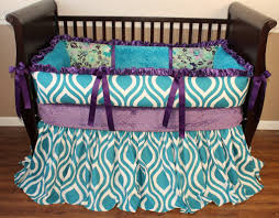 poetic peacock crib bedding set