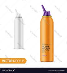 Spray Bottle Label Design Matte Aluminum Nasal Spray Bottle With Label