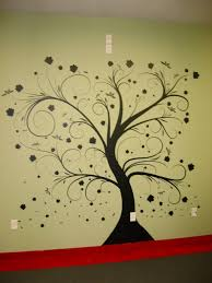 Wall Tree Stencil Designs Wall Paint Stencils Tree With Beautiful Natural Dark Tree