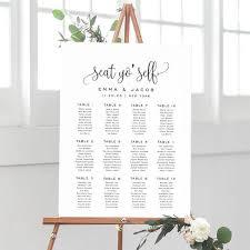 Wedding Seating Chart Wording Seat Yo Self Wedding Seating Chart Template Seating Chart