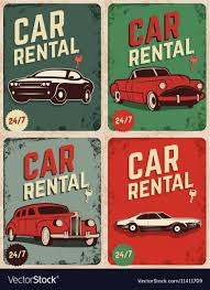 Car Flyers Set Of Car Rental Old Style Flyers Royalty Free Vector Image 19