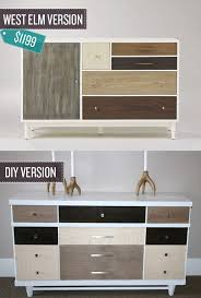 used west elm furniture.  Used Transform A Used Dresser Into Beautiful Color Blocked Version I 24 West  Elm Hacks To Used Furniture I
