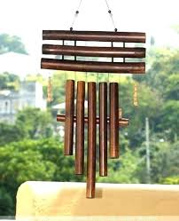 bamboo wind chimes large for wooden deep tone diy resonant sound churc