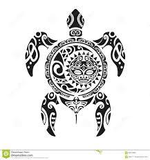 татуировка черепахи в маорийском стиле иллюстрация Eps10 вектора