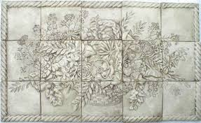 Decorative Ceramic Tile Accents Ceramic Tile Floral Basket Panel Decorative Tiles and Accent Tiles 21