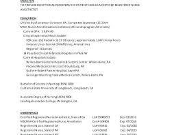 Nurse Anesthetist Resume Certified Registered Nurse Anesthetist Resume Awesome Perfect Resume 86