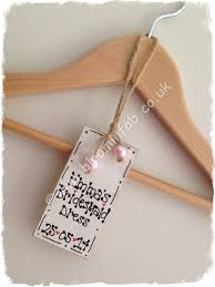 Personalised Coat Rack bloominfab Bridal Party Coat Hanger Wooden Tags personalised 86