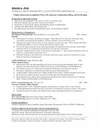 Resume Journalism Cover Letter Examples Internship Template Free