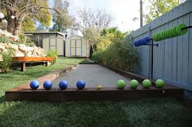how big is a bocce ball court at home