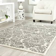 safavieh rugs for interior floor design awesome living room using white faux leather sofa with