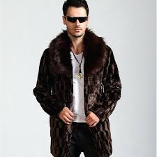 fur jacket mens winter men fashion atmosphere faux coat brown warm cozy casual mink india