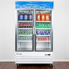 Glass Refrigerator Avantco Gdc40 48 Swing Glass Door White Merchandiser Refrigerator