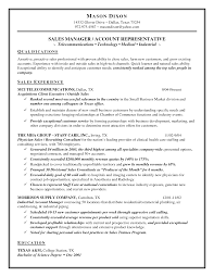 Senior Sales Representative Sample Job Description Resume Objectives