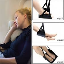 portable comfy hanger travel airplane footrest hammock office portable carry on foam flight leg