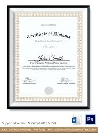 Word Template Diplomarbeit Ms Certificate Templates For Diploma
